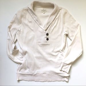 Banana Republic White Pullover Sweatshirt Top